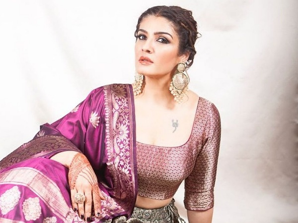 Maatr Actress Raveena Tandon's Festive-Perfect Ethnic Outfits On Her Birthday
