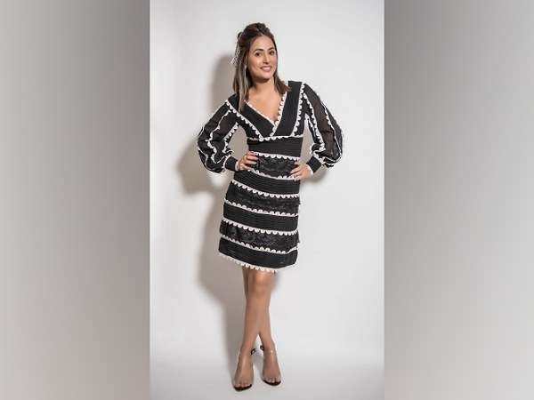 Hina Khan In A Black Dress For Bigg Boss 14