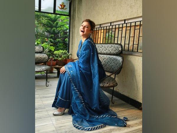 Urvashi Dholakia In A Dark-Blue Ethnic Suit