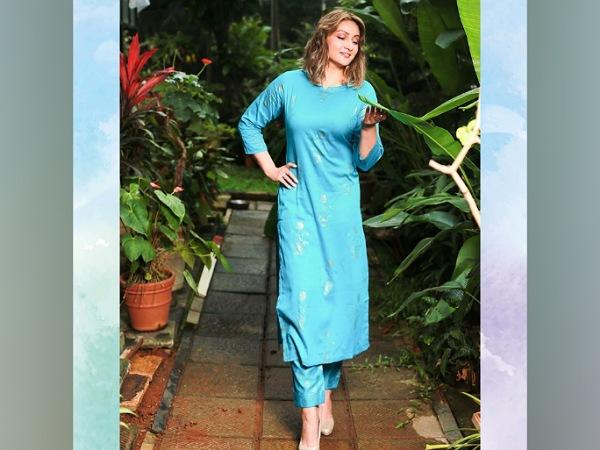 Urvashi Dholakia In A Sky-Blue Ethnic Suit