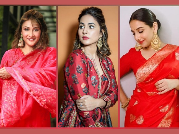Navratri 2020: Vidya Balan, Hina Khan And Urvashi Dholakia's Red Outfits To Brighten Up The Day