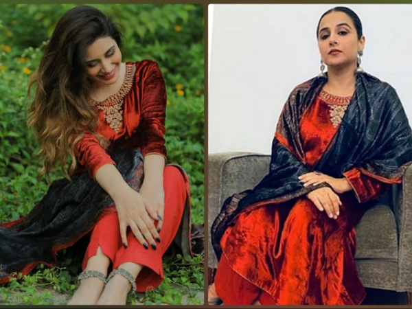 Love Red Velvet? Then You Are Going To Love Vidya Balan And Warina Hussain's Kurta Sets Too!