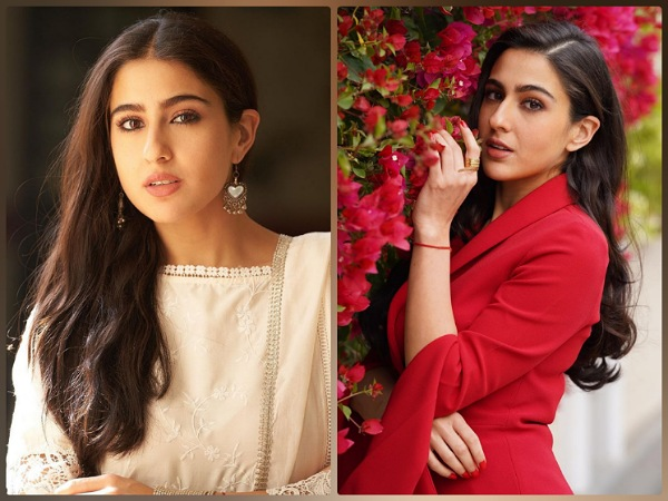 Sara Ali Khan In A Red Pantsuit And White Ethnic Suit For Coolie No. 1 Promotions