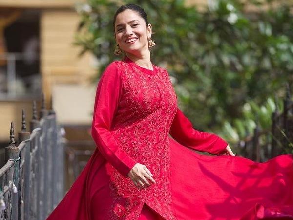 Pavitra Rishta Actress Ankita Lokhande's Red Ethnic Outfits On Her Birthday