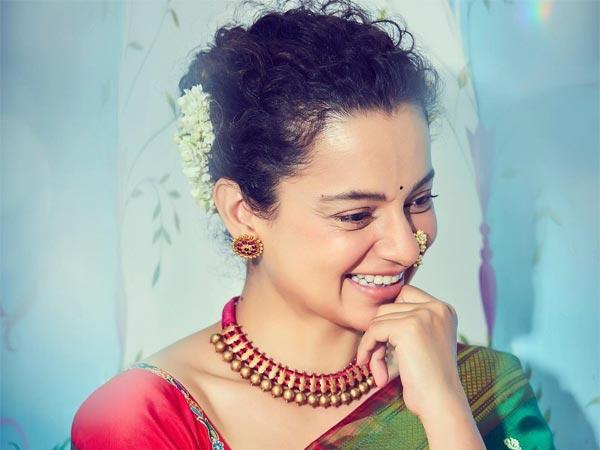 Kangana Ranaut's Ethnic Look In A Green Silk Saree On Instagram