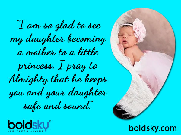 Wishes On The Birth Of A Baby Girl