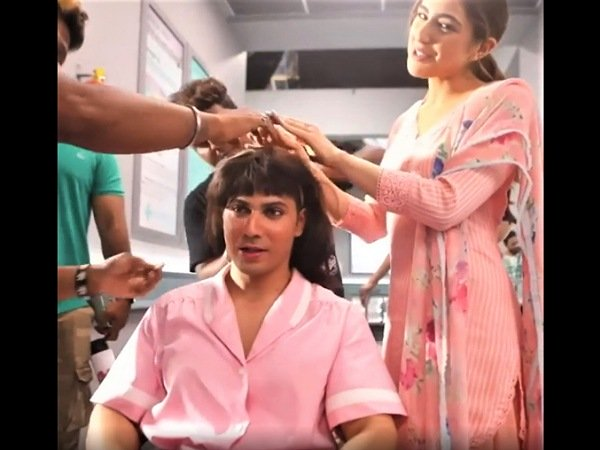 Varun Dhawan In A Wig And Some Makeup