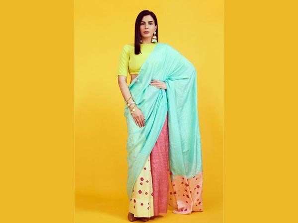 Kirti Kulhari In Multi Neon Shades Saree