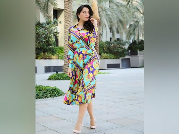 Nora Fatehi Stuns In A Colourful Dress