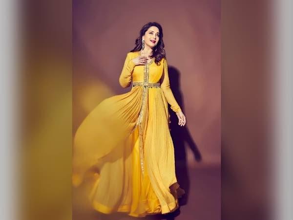 Madhuri Dixit Nene In A Yellow Anarkali