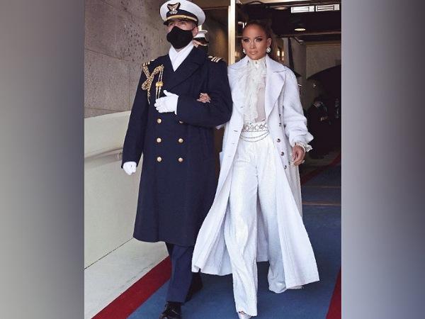 Jennifer Lopez In An All-White Ensemble