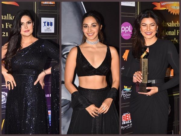Sushmita Sen, Kiara Advani And Zareen Khan Make Stunning Statement In Black At Phalke Awards Night