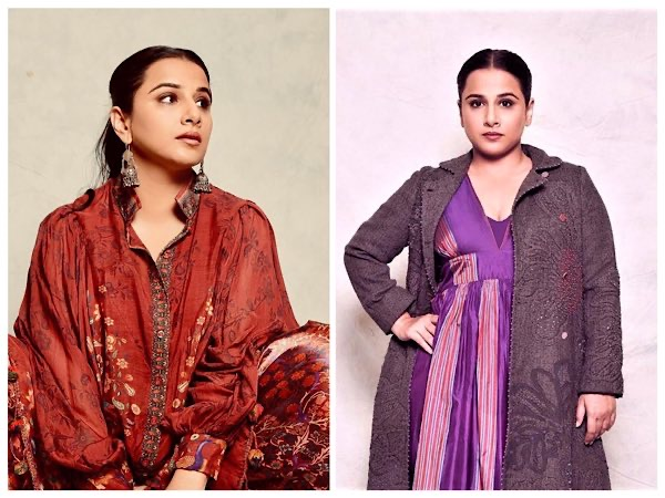 Vidya Balan's Chic And Stylish Purple And Red Indo-Western Outfits Will Help You Rock This Wedding Season