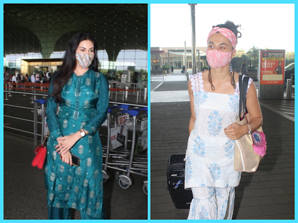 Airport Fashion: Amyra Dastur And Taapsee Pannu Flaunt Comfy And Eye-Catching Traditional Outfits