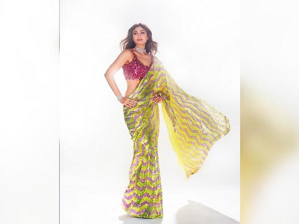Shilpa Shetty In Sparkling Sequin Saree