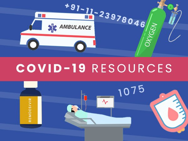 COVID-19 Resources And Helpline: Availability Of Oxygen, Hospital Beds Plasma, Remdesivir And More