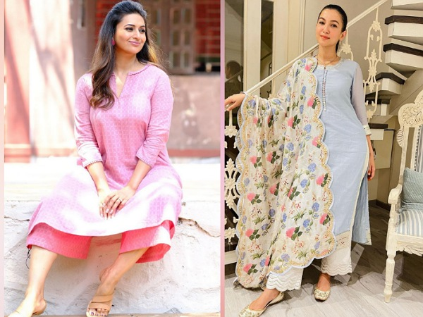 Eid ul-Fitr 2021: Gauahar Khan, Divyanka Tripathi And Others' Pretty Palazzo Sets Could Be Your Festive Look