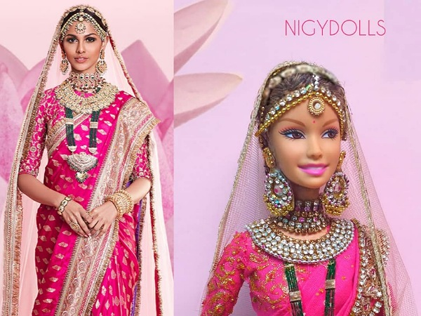The Doll Artist Who Made Doll Inspired by Adline Castelino Saree