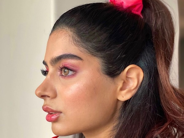 Khushi Kapoor Steals The Limelight With Her Stunning Look In A Pink Scrunchie, Pink Makeup, And Pink Nails