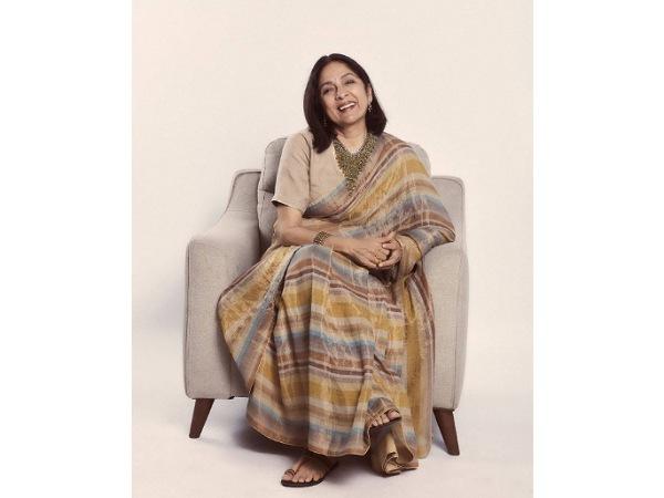 Sardar Ka Grandson Actress Neena Gupta Gives Us A Major Saree Goal With Her Gorgeous Tissue Saree