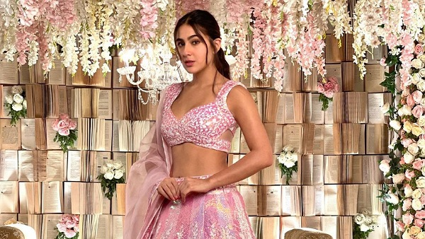 Sara Ali Khan Exudes Pink Power With Her Intricately-Designed Lehenga Set; Perfect For Attending Weddings