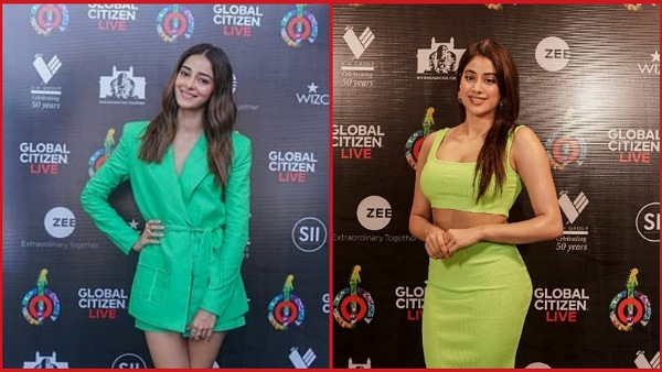 Janhvi Kapoor and Ananya Panday in green outfits at Global Citizen Live 2021