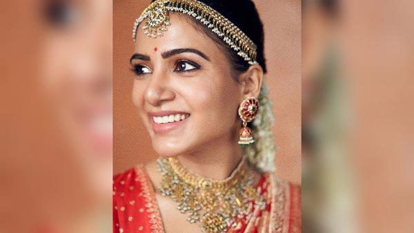 Samantha Ruth Prabhu's Bridal Look Is Winning The Social Media; Kudos To Stylist Preetham Jukalker
