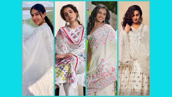 Navratri 2021: White Traditional-Wear Goals From Sara Ali Khan, Sanya Malhotra, PV Sindhu And Huma Qureshi