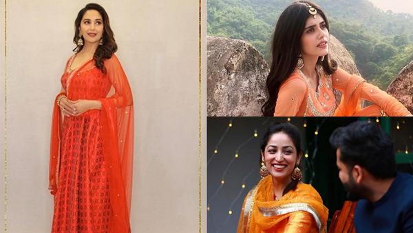 Navratri 2021: Madhuri Dixit-Nene, Sanjana Sanghi And Yami Gautam Have Traditional Outfit Goals