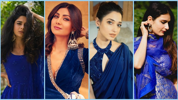 Navratri 2021: Fatima Sana Shaikh And More Divas Inspire Us With Rich And Resplendent Royal Blue Outfits