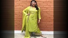 Kajal Aggarwal's Green Suit