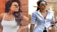 Nia Sharma In Two White Outfits