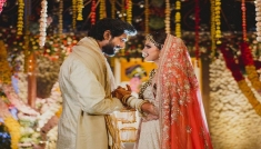 Rana Daggubati & Wife's Wedding Wear