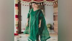 Samantha Akkineni's Green Ethnic Outfits