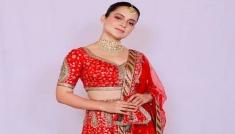 Kangana Ranaut In A Pretty Red Lehenga