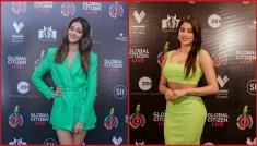 Green Outfits Of Janhvi And Ananya