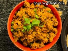 Soya Vegetable Mix Recipe