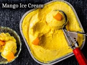 Mango Ice Cream Recipe| How To Make Mango Ice Cream| Easy Home-made Mango Ice Cream Recipe