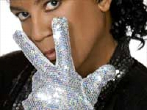 Michael Jackson Glove Auctioned Display