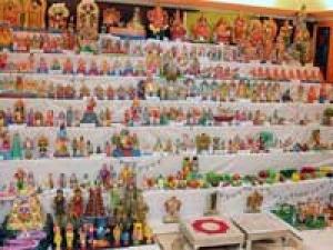 Navratri Bommai Kolu Dolls Display