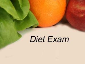 Take Diet Exam