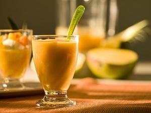 Mango With Ice Cream Smoothie