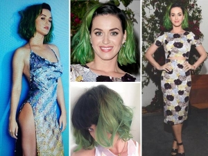 Katy Perry Gets The Green Look