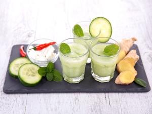 Healthy Ginger Cucumber Juice Recipe