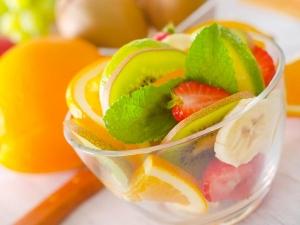 Chilled Summer Fruit Salad For Breakfast