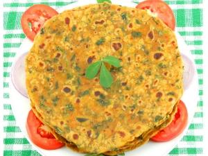 Healthy Breakfast Methi Paratha Recipe