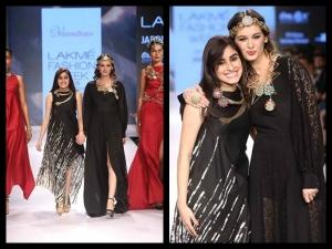 Lakme Fashion Week Winter Festive 2015 Vasundhara Models Dripping In Gold