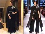 Sonakshi Sinha In A Black Ridhi Mehra Jumpsuit At Amitabh Bachchan Diwali Party