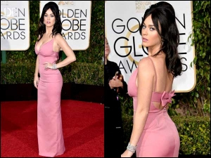 Golden Globe Awards 2016 Katy Perry In Pale Pink Gown
