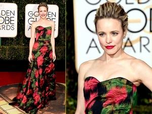 Golden Globe Awards 2016 Rachel Mcadams In Floral Lanvin Gown